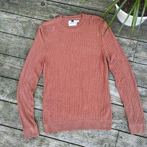 Topman Men's Brick Ribbed Crew Neck Sweater Medium